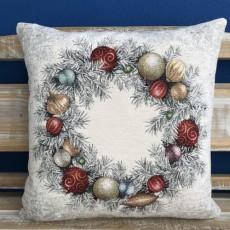 Gobelínová obliečka/vankúš vianočný Chenille 903
